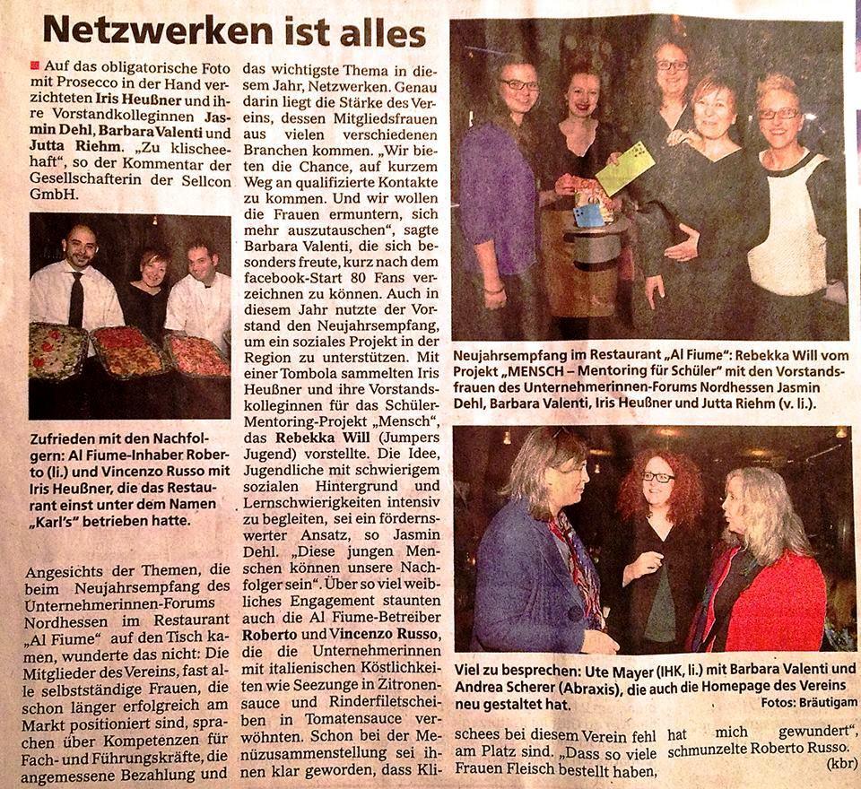 Engagement für Unternehmerinnen in Nordhessen, als Vorstandsmitglied
